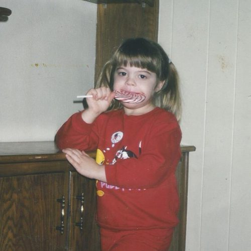 Hollie loved lollipops!