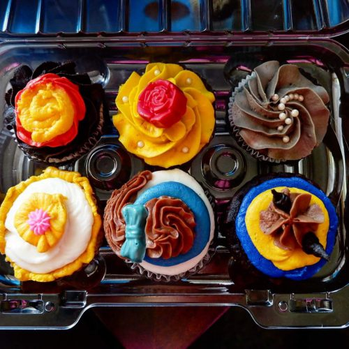 The cupcakes look almost too pretty to eat!