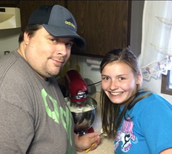 Michael and niece Olivia love to bake together!