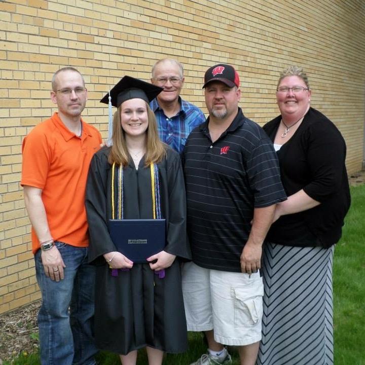 brad's sister's graduation from uw-platteville