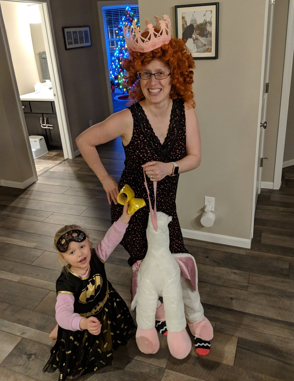 horsing around at home