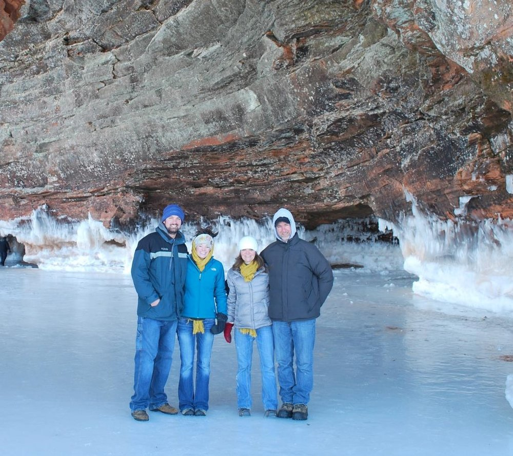 exploring the lake superior ice caves