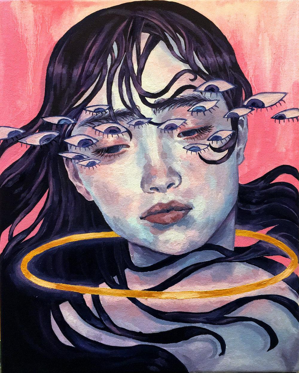 """The Diamond,"" Oil on canvas, 2017"