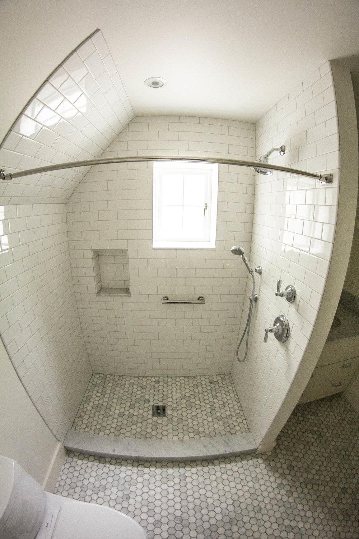 White tile shower - gray floor - fisheye.jpg