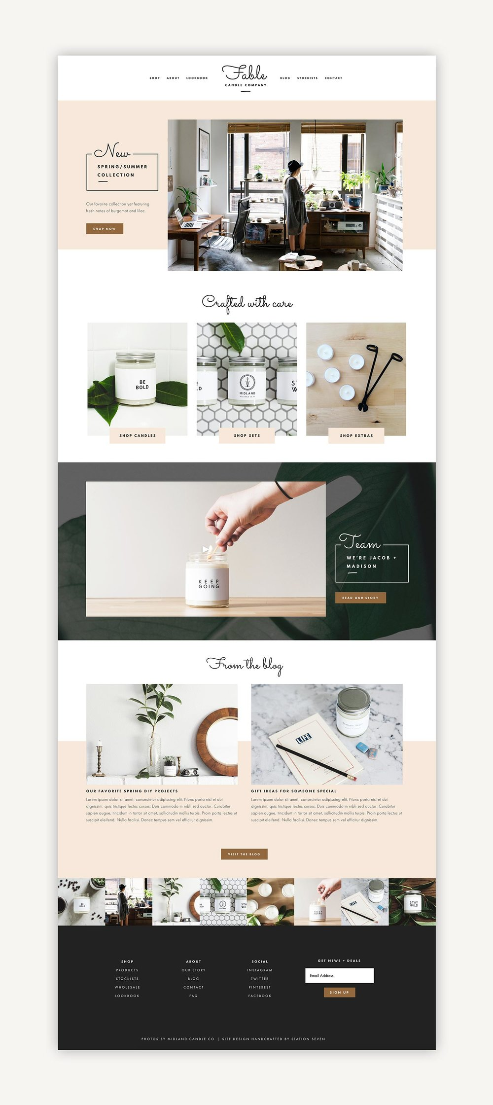 fable squarespace kit station seven squarespace templates wordpress themes and free resources for creative entrepreneurs