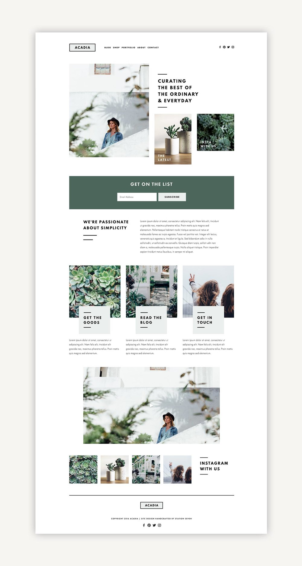 acadia squarespace kit station seven squarespace templates wordpress themes and free resources for creative entrepreneurs