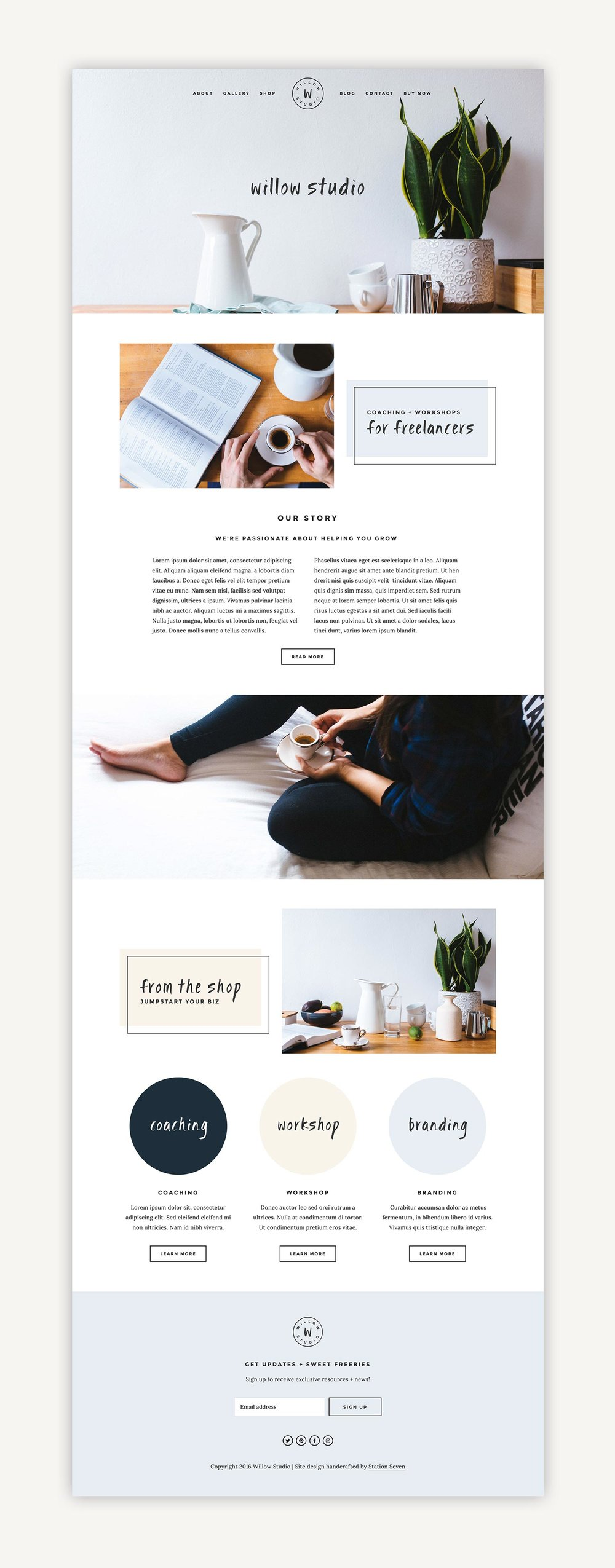 willow squarespace kit station seven squarespace templates wordpress themes and free resources for creative entrepreneurs