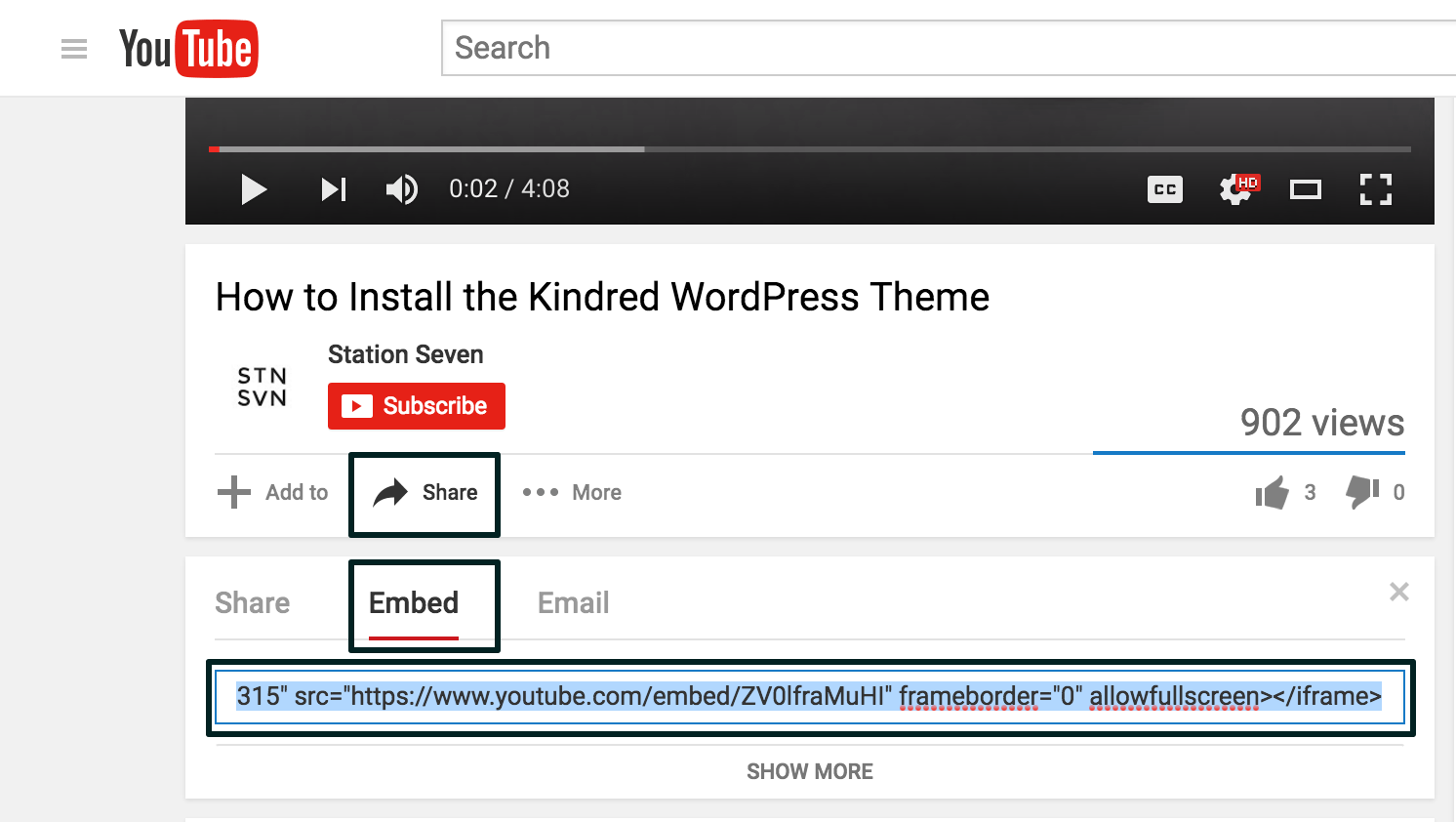 How to Embed Video — Station Seven: Squarespace Templates
