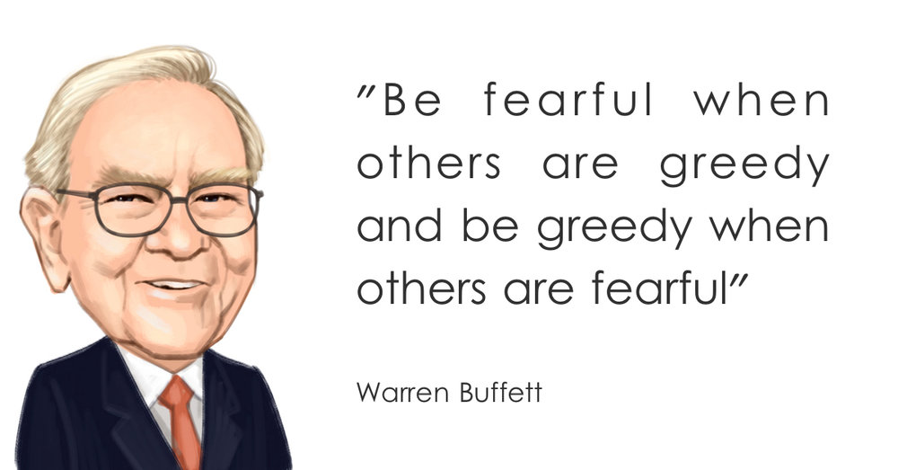 Image result for be greedy when others are fearful
