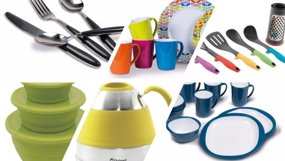Haushalt - Besteck, Gläser, Kochgeschirr, Tischläufer, Küchenhelfer, Haushalthelfer, Küchengeräte