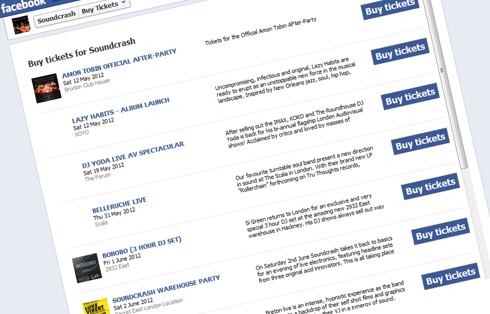New Feature: Improved Facebook App — Ticket Tailor Blog