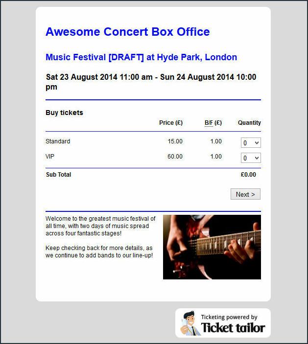 Ticket Tailor Screenshot Box Office
