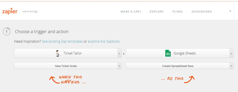 zapier gsheets example
