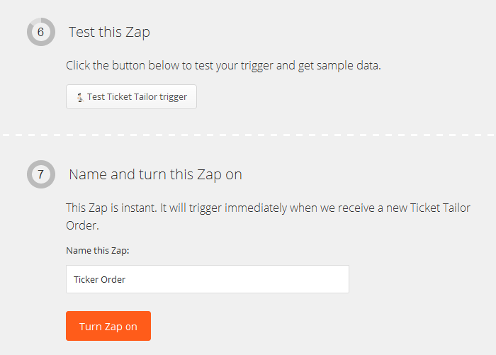 zap testing and activation