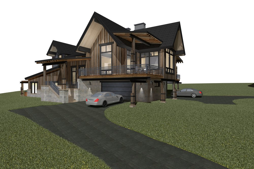 Paired Residence Rendering