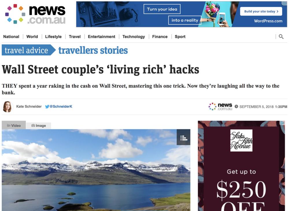News.Co.Au - Wall Street couple's 'living rich' hacks