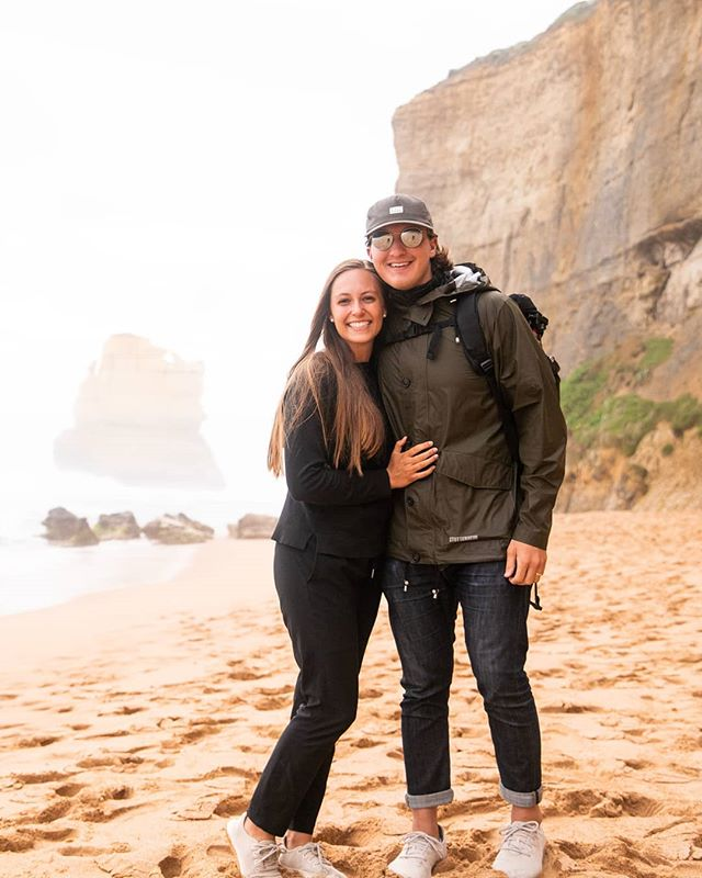 Rooaaadd Triiip! Roaaad Triip! Our Great Ocean roadtrip was one for the books. We spent two full days oogling out our windows at spectacular rock formations, huge waves, and just trying to catch a glimpse of a koala. 🐨Did we see one, you may ask?? You can find out by watching our latest vlog. You know what to do. 😊✈️📲 . #travelwithme#exploretheglobe#creativetravelcouple#goexplore#aroundtheworld#visitmelbourne#greatoceanroad#gor#twelveapostles#digitalnomads#laptoplifestyle#passionpassport#travelinspiration#livetotravel#borntotravel#globetrotter#travelblogger#travelcouple#vagabonders