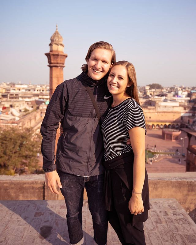 The posed pictures are cool but this kind of photo is my absolute favorite! Cheesing with an amazing view. This photo is from our very first day in India. We were standing on the rooftop of the spice market in Delhi soaking in the sights and the smells and knew we had to snap one for the mems. 📸🌏❤️ We tried amazing food, talked with the locals, rode our first tuk-tuk, and learned more about the rich history. 😍😊 and the best part? Exploring side by side, hand in hand. . #adventureseeker#wanderlust##travelmore#coupletravel#travelvlogger#travelinspiration#travelcouplegoals#visitindia#incredibleindia#discoverindia#goexplore#earthpix#discover_earth#travelhacker#travelistolive#lovetotravel#openmyworld#travelbloggrs#bloggerlife#travellgram#seekmoments
