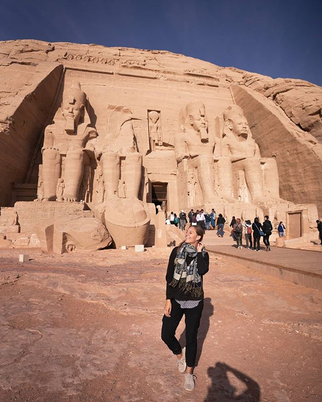 Traveling through Egypt is a one of a kind experience! I was overcome with emotion more than once during our time here. Being able to visit the ancient ruins, temples, and monuments throughout this incredible country was truly special! 🐪🥙🌍 . #travelinspiration#visitegypt#egypt#cairo#femmetravel#passionpassport#darlingescapes#wearetravelgirls#earthpeek#wonderfulglobe#thevisualcollective#sheisnotlost#backpackerstory#discoverearth#tlpicks#lpegypt#beautifuldestinations#roamtheplanet#natgeotravel#travelawesome