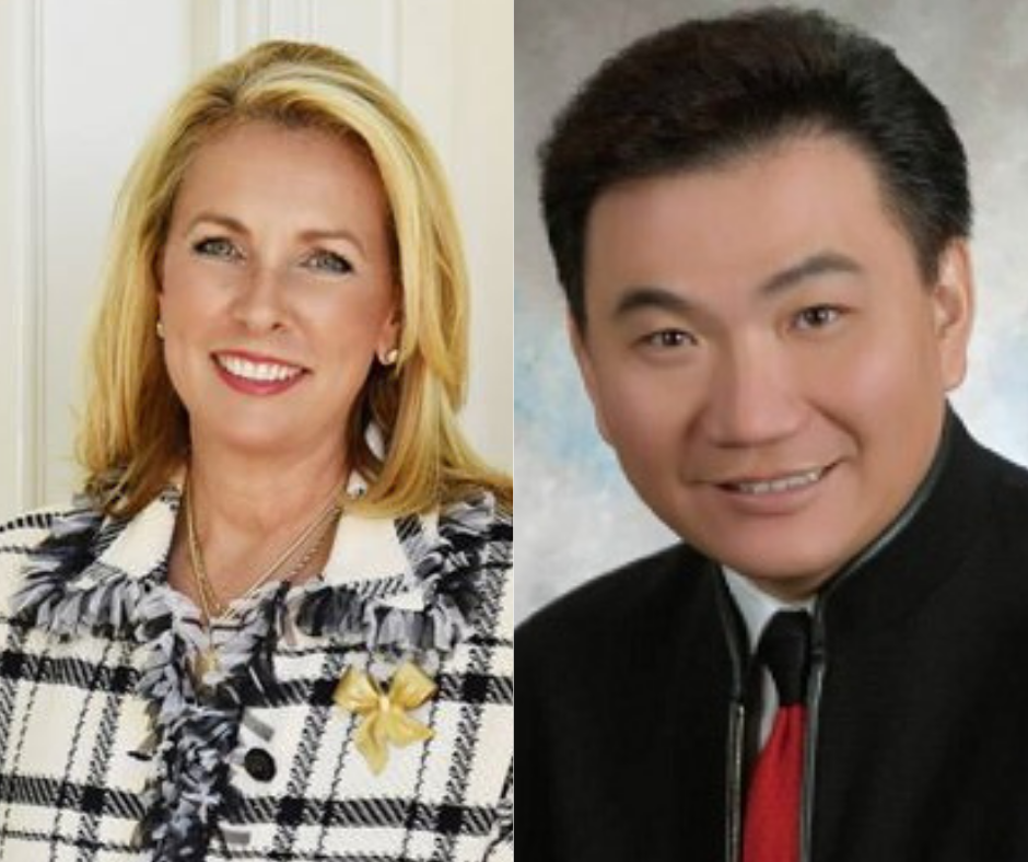 Kim Pacini-Hauch (left) and Frank Liu (right)