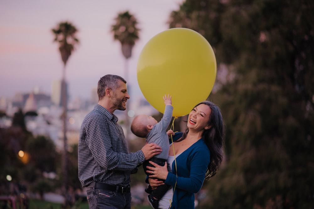 Gigantic yellow balloon