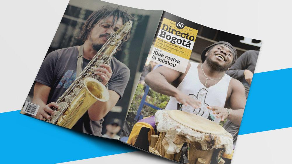 Diseño de revista Directo Bogotá