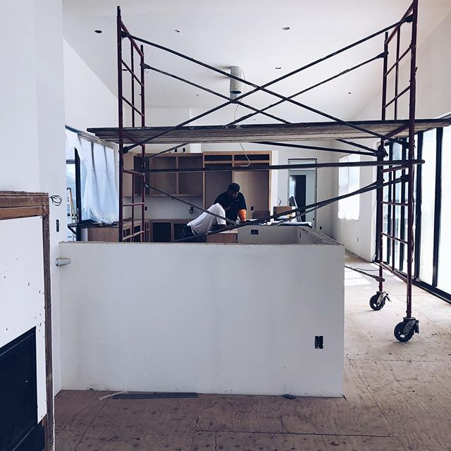 Problem solving at the Belmont house #sunnyhillsstudio #oaklandarchitects #underconstruction