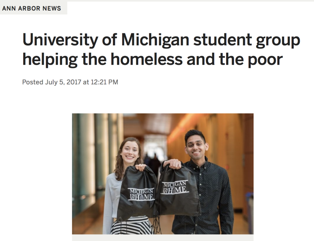 OUR STORY - A couple of U of M students decided they wanted to make a difference. This is their story.