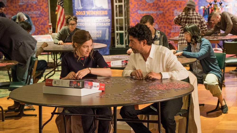 Scene from Puzzle featuring Kelly Macdonald and Irrfan Khan