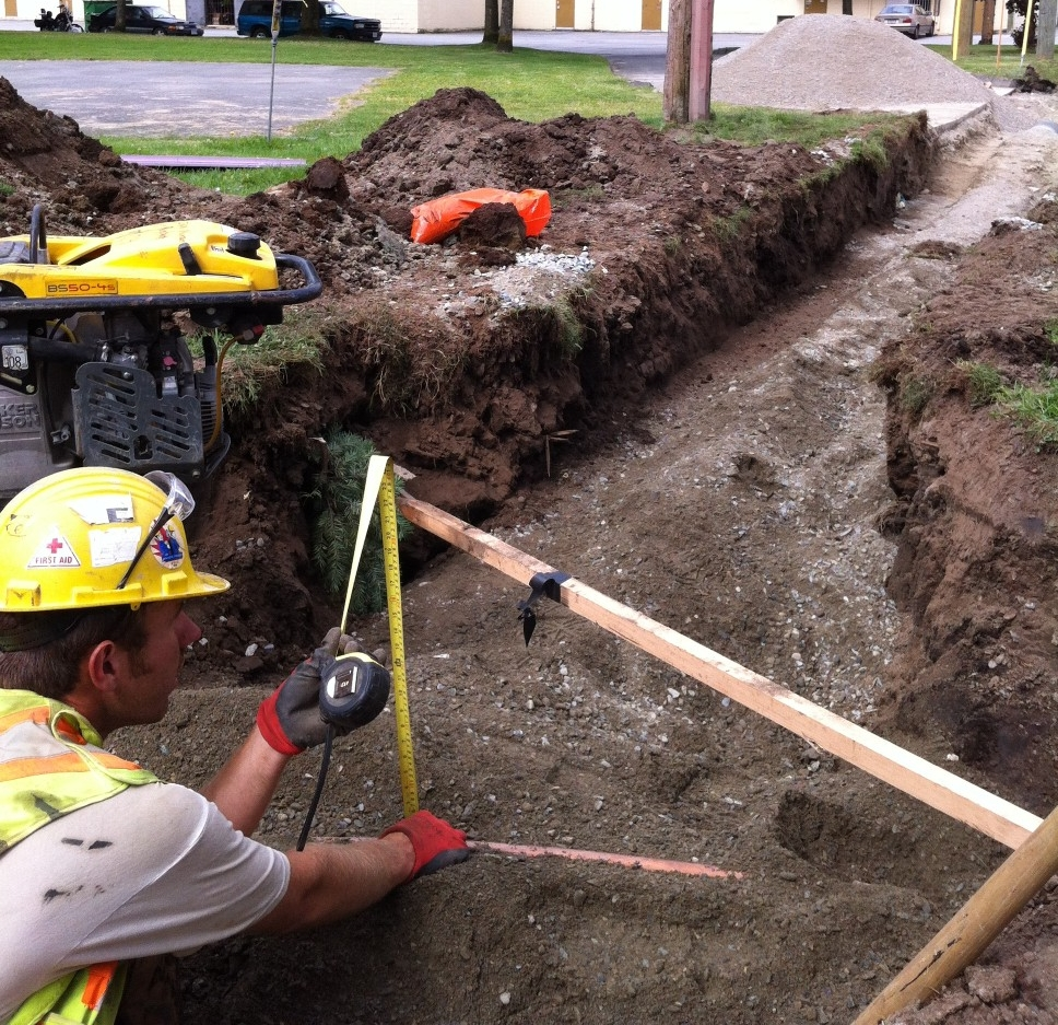 B&B Contracting - Trench Construction Worker - Excavation Contractors Surrey.JPG