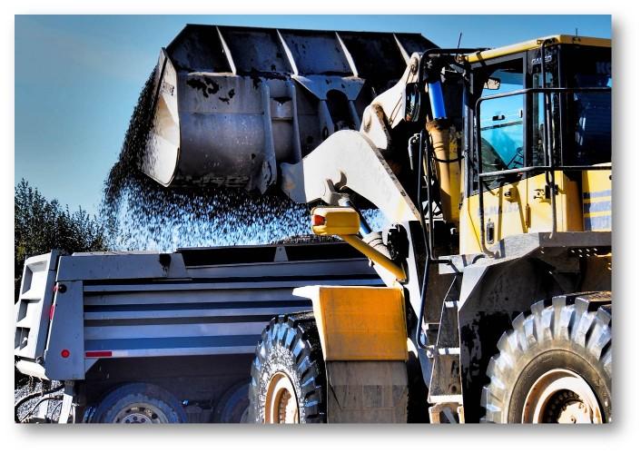 Fraser Valley Aggregates FVA - Gravel Pit Backhoe 1 Dump Truck - Surrey BC.jpg