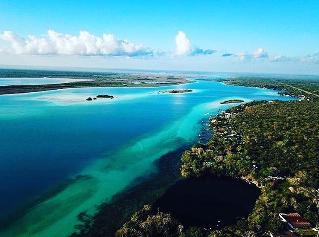 Amazing aerial shot of #Bacalar by @rgtingle09... 🏞🙏🏼🏞