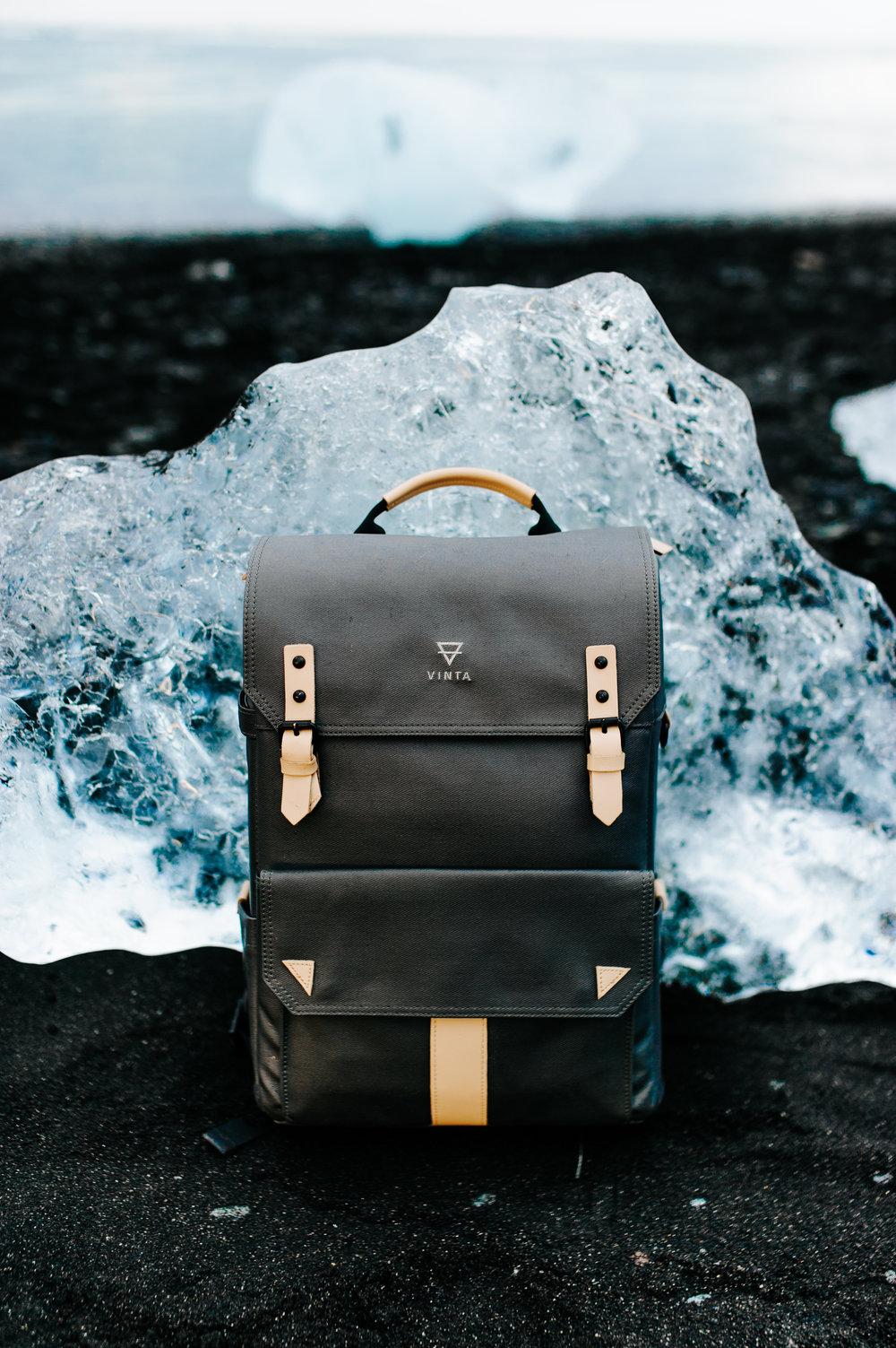Vinta, vinta bags, camera bag, iceland