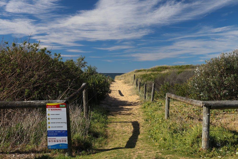 Werri Beach walkway