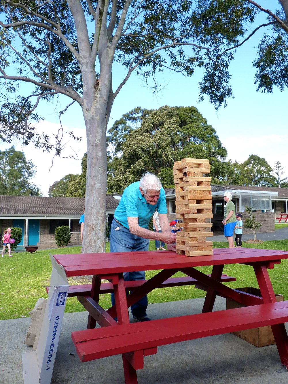 Jenga at Chittick Lodge