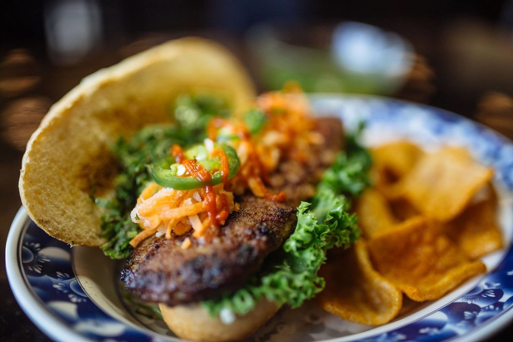 Pork BurgerBanh Mi - at Dalat