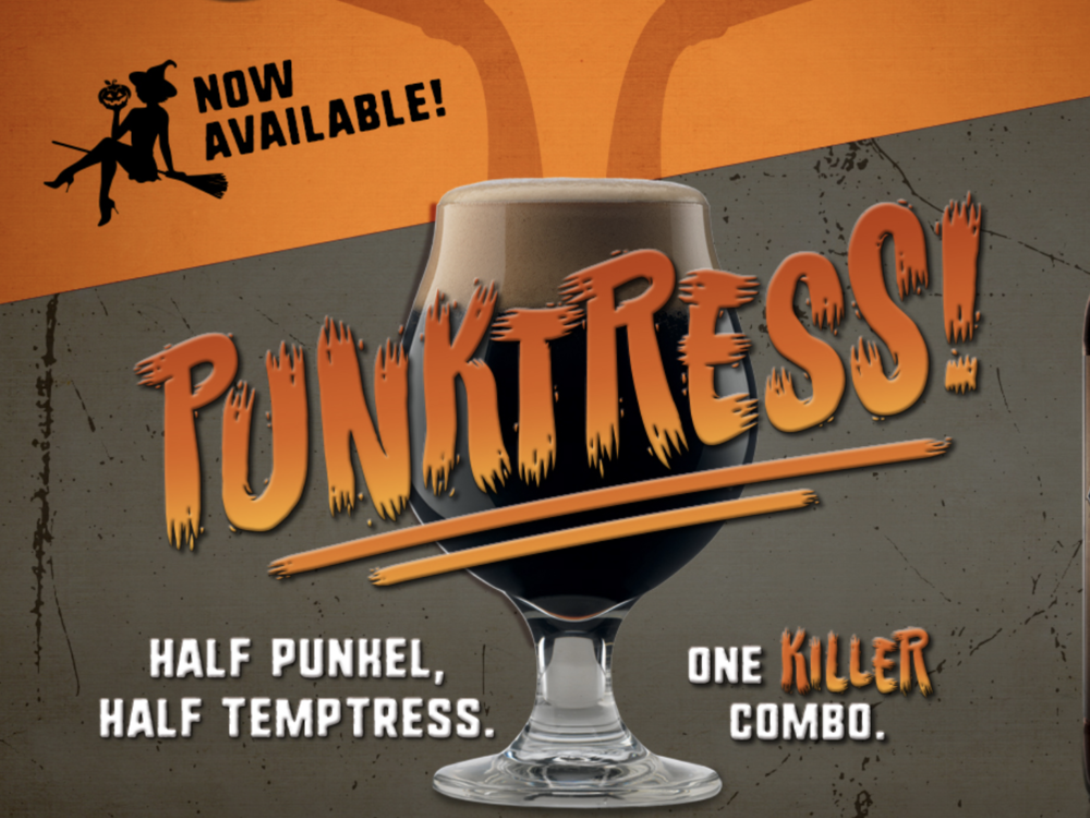 The Punktress at Lakewood Brewing - Lakewood Brewing Company closes up the list, but they're certainly anything from last. You've likely heard of The Temptress, but because this is fall, we're throwing in their Punkel, a pumpkin-spiced dunkel, to create a half-and-half called The Punktress. You're getting the strong and dark chocolate-caramel malt of The Temptress with the fall goodness of pumpkin pie, perfect for late-fall tailgating.