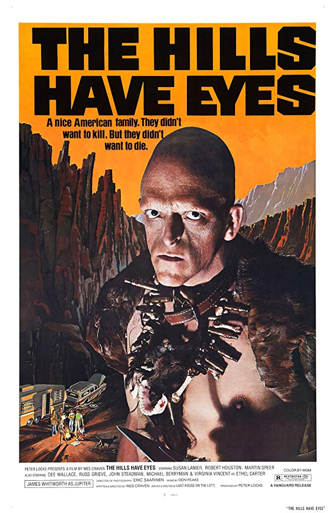 """""""The Hills have Eyes"""" at the Inwood Theater   10/19 & 10/20 - Here we have another midnight showing of a horror classic. Wes Craven's """"The Hills Have Eyes"""" is a brutal tale of an All-American family whose car breaks down in the desert. If that's not bad enough, a cannibalistic, inbred family stalks and brutally attacks them. This film is another classic of the genre, but it is truly brutal and not for the weak of heart (or stomach). It's great."""
