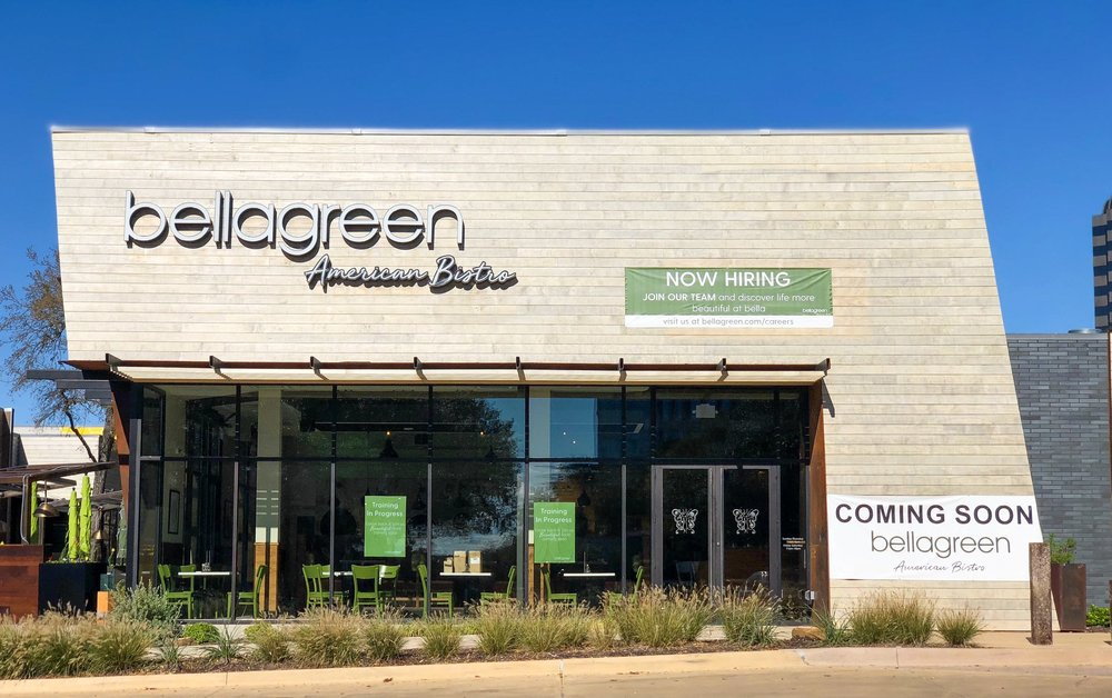 Bellagreen - What: Popular Houston-based healthy fare is coming to The Hill, serving up its menu of salads, wraps, panini, burgers, tacos, and pizza. And those with dietary limits and restrictions, rejoice: the menu will be offering gluten-free, dairy-free, vegetarian, Keto, paleo, and Whole 30-approved items.Where: 8041 Walnut Hill Lane #810When: November 8
