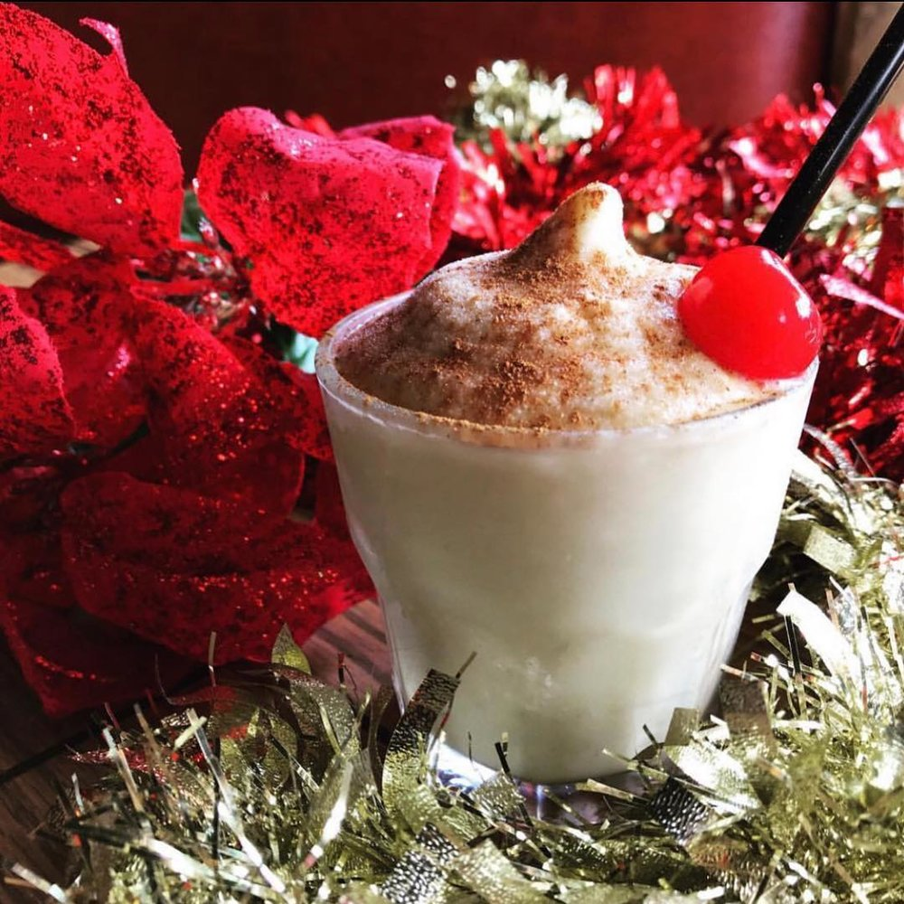 Frozen Eggnog at Double Wide - If you've ever gone too hard at an office holiday party, then you might've sworn off the nog for good, but it's only fitting that a bar as kitschy as Double Wide has created this frosty version loaded with Sailor Jerry.