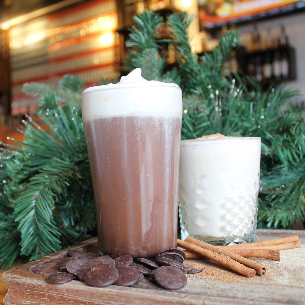 Maple & Bourbon Melt at The Rustic - While The Rustic has its own version of the RumChata Hot Chocolate, we're here for the Maple & Bourbon Melt with Evan Williams Bourbon, Ysabel Regina Brandy and maple syrup. Mostly because of the bourbon.