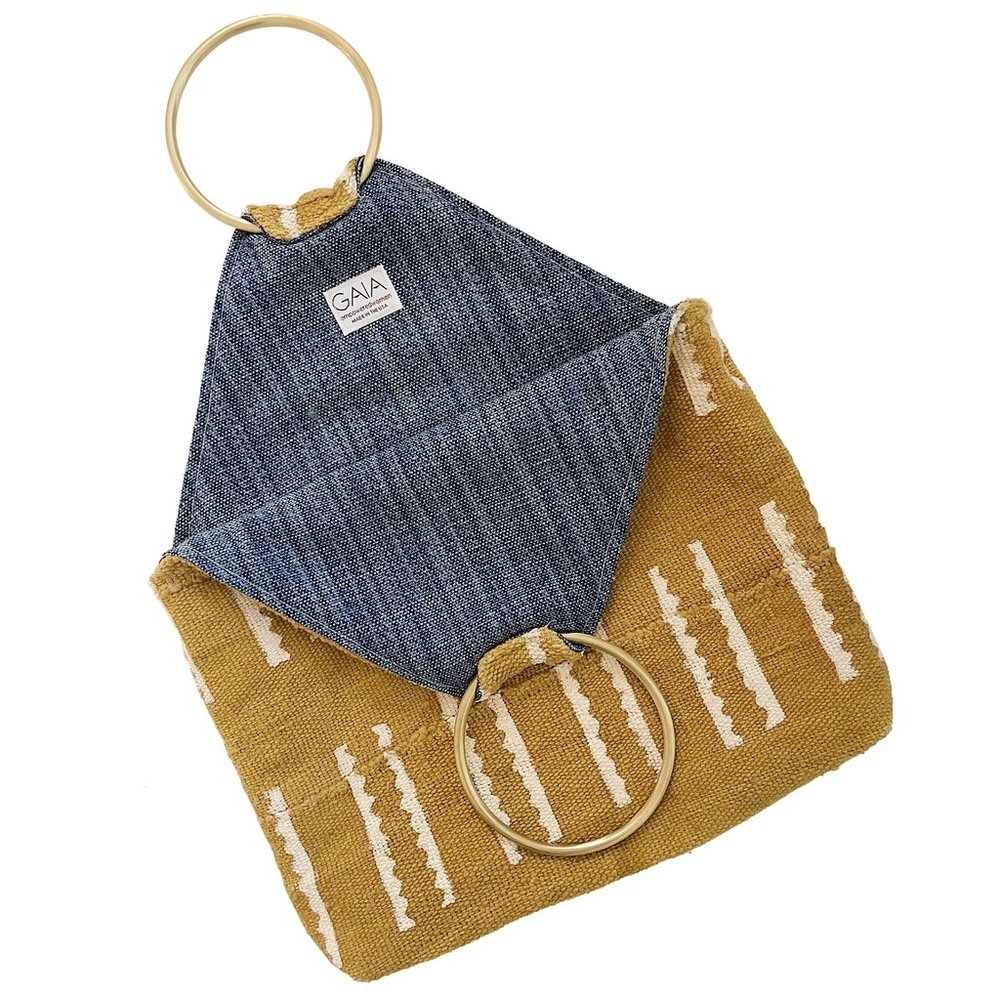 GAIA Hazel Tote ($158) - Each GAIA handbag is thoughtful and unique, down to the Fair Trade brushed brass accents and handwoven African mudcloth. And bonus: the lining of the bags are made with Perennials fabric, so they're amazingly easy to keep clean.