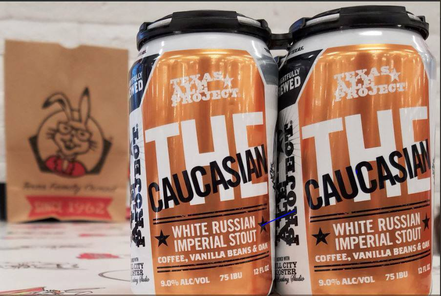 The Caucasian | Texas Ale Project - Some might say that it's silly to try and put the flavors of a White Russian into an imperial stout by loading it with Madagascar Bourbon vanilla beans, but uh… that's just their opinion, man. We're here for it, el duderino.