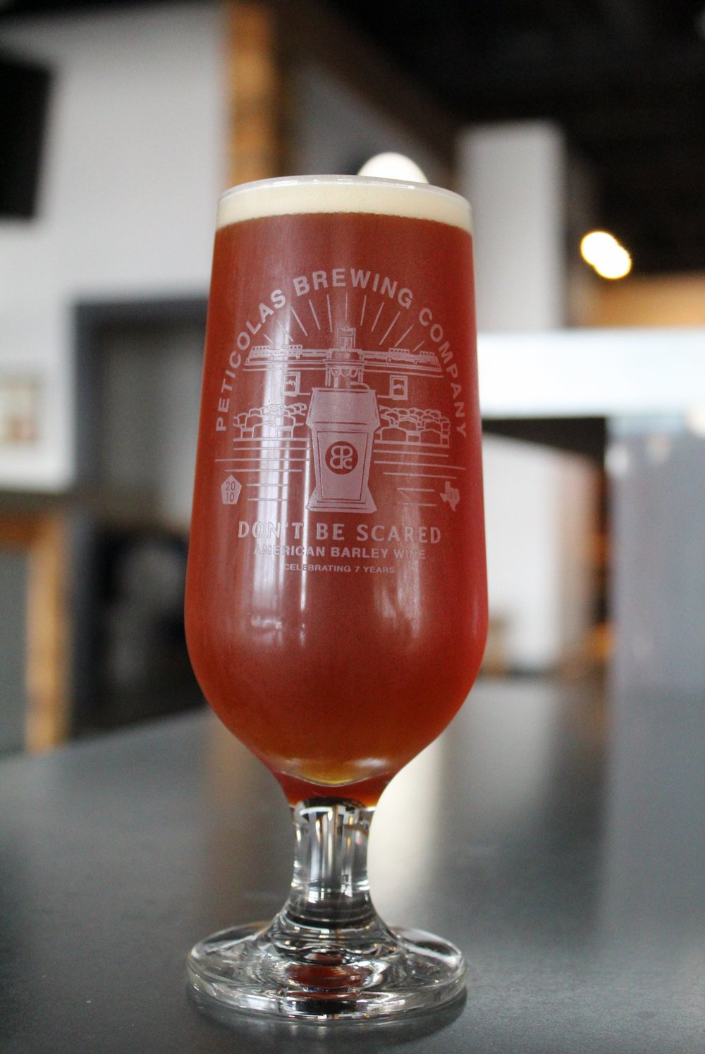 Don't Be Scared   Peticolas Brewing - Peticolas just celebrated their 7th anniversary and this barleywine was their gift to Dallas. It's barleywine season, and if there's any place to trust to get it right, it's Michael Peticolas' operation in the Design District. Head to the taproom for this limited release and remember: It might check in at 13% ABV and >100 IBU, but don't be scared.