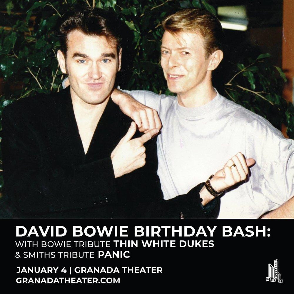 David Bowie Birthday Bash - Friday, January 4   Granada Theater