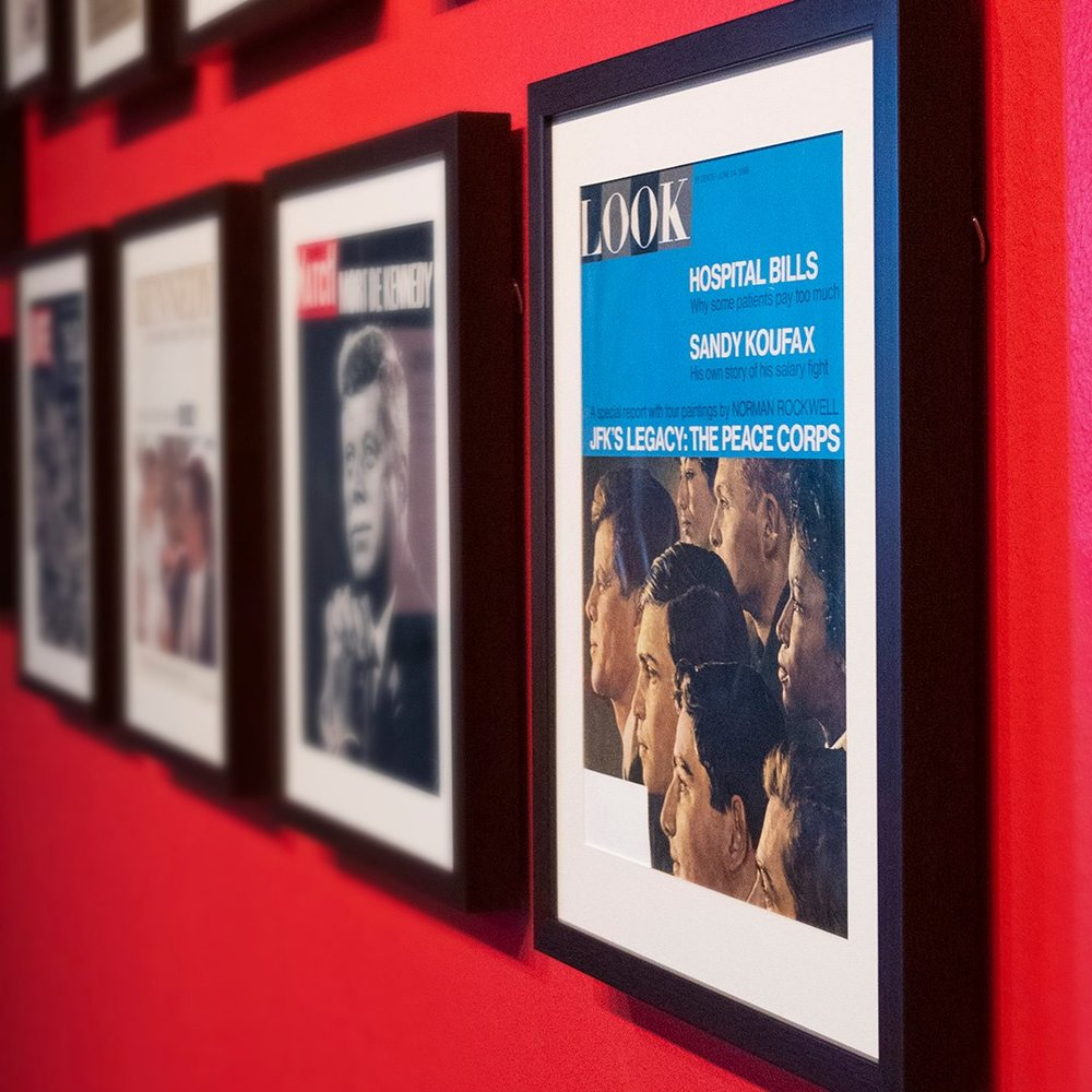 """55 Years   President Kennedy on Magazine Covers 1963 – 2018 Sixth Floor Museum, Now - Aug. 4 - History buffs, if you haven't been to the Sixth Floor Museum, you're in for an extra treat. An $18 admission gets you a tour of one of the most infamous buildings in U.S. history, along with the museum's newest temporary exhibit, """"55 Years."""" This collection offers a glimpse into how President Kennedy's image has been depicted on many popular magazine covers over the last six decades. We also highly recommend a walk to the infamous grassy knoll."""