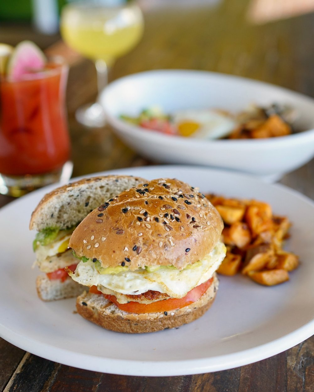 True Food   8383 Preston Center Plaza #100 - Perhaps the healthiest brunch menu in Dallas, this place will make you feel like you're cheating on your diet. There are also plenty of options for lunch and dinner but dieting or not, brunch is where it's at.