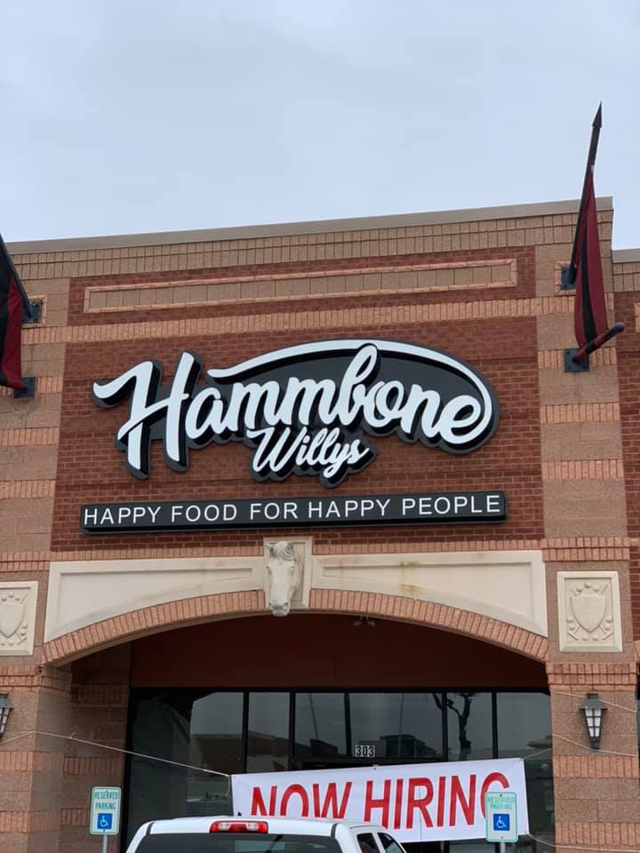 - Burger lovers, you may want to get yourselves acquainted with Hammbone Willy's. Currently slated for a Plano opening at 2208 Dallas Parkway on February 11, they're planning to launch 10 DFW locations in the next three years. Expect counter-service burgers in a rustic chic setting with plenty of game-watching screens in view.