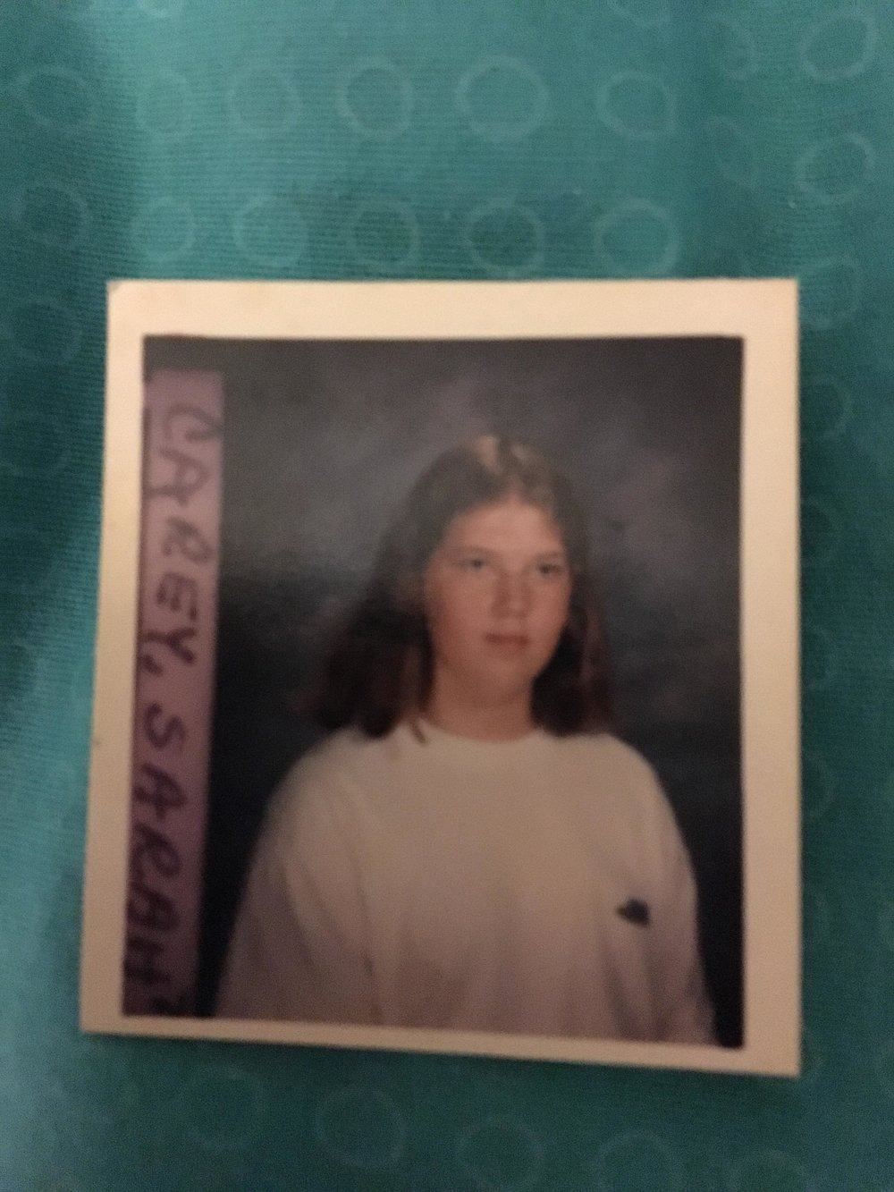 Sarah Carey in 8th grade