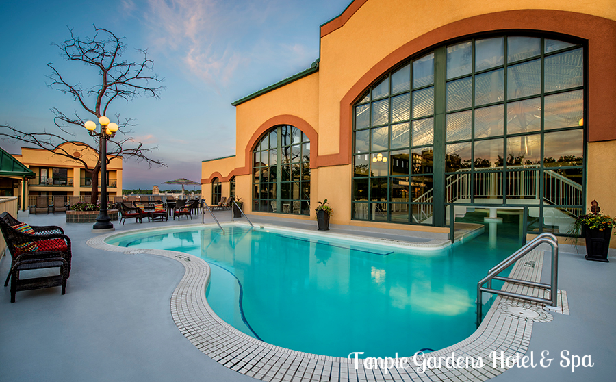 Located in historic downtown Moose Jaw, Temple Gardens Hotel & Spa is the ultimate Saskatchewan escape. Come for a soak in Canada's largest therapeutic geothermal mineral water pool or relax and rejuvenate at the Sun Tree Spa.    http://bit.ly/bookattemplegardens